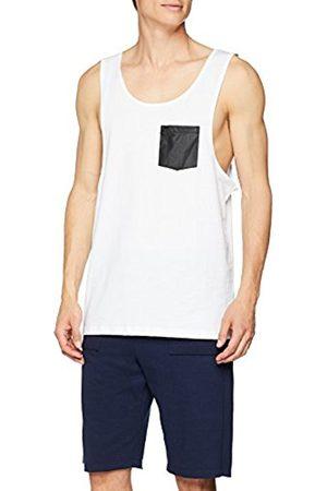 Urban classics Men's Leather Imitation Pocket Loose Sports Tank Top
