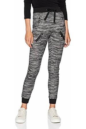 Womens Fitted Melange Zip Sweat Sports Pants Urban Classic