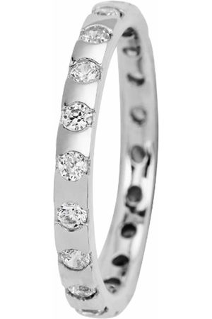 Carlo Monti JCM2004-111 Women's Ring Rhodium-Plated 925 Sterling Silver with 20 Zirconia Cryst