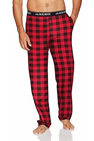 Hatley Little House by Men's Jersey Pants Pyjama Bottoms, (Buffalo Plaid)