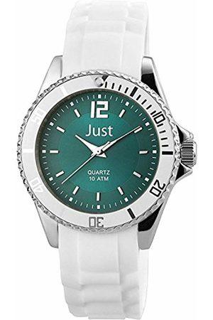Just Watches Women's Quartz Watch with Black Dial Analogue Display Quartz Rubber ~ 48 S3863 HBL