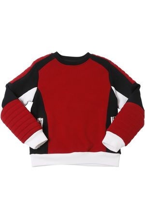 Balmain COLOR BLOCK BIKER COTTON SWEATSHIRT