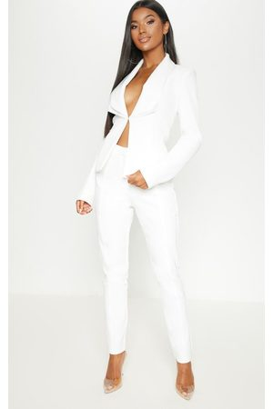 PRETTYLITTLETHING Women Trousers - Avani Cream Suit Trousers