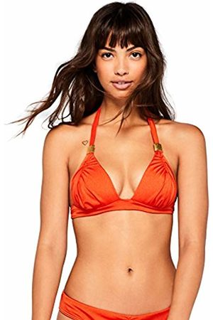 IRIS & LILLY Women's Ruched Triangle Bikini Top (Chile) X-Small