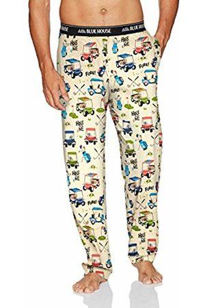 Hatley Little Blue House by Men's Jersey Pants Pyjama Bottoms, (Golf)