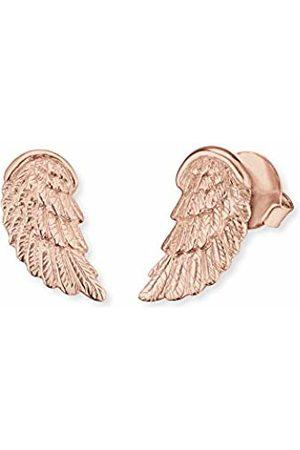 Engelsrufer Angel Wing Ear Studs for Women 925-Sterling Silver Rose Plated 17.5 mm