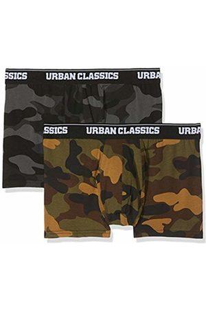 Urban classics Men's 2-Pack Camo Boxer Shorts, Mehrfarbig (Wood Camo + Darkcamo 01362)