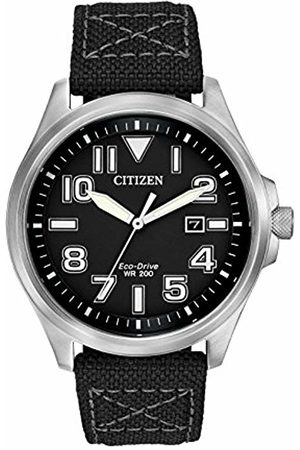 Citizen Men's Quartz Watch with Dial Analogue Display and Fabric Strap AW1410-08E