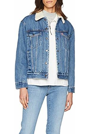 Ex Trucker Jacket Bf Women's Denim Sherpa mwvn80N