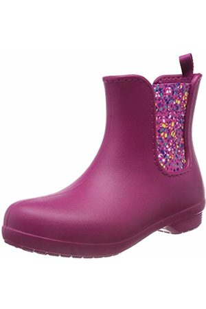 Crocs Women Freesail Chelsea Wellington Boots, (Berry/dots)
