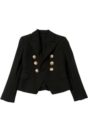 Balmain DOUBLED BREASTED COOL WOOL TWILL JACKET