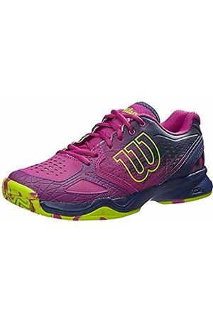Wilson Women's KAOS COMP W Tennis Shoes, Multicolor - Mehrfarbig (AZALEE /NAVY WIL/GRANNY GREEN)