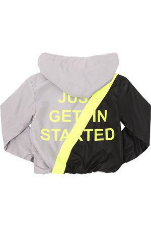 DUO HOODED NYLON TRACK JACKET