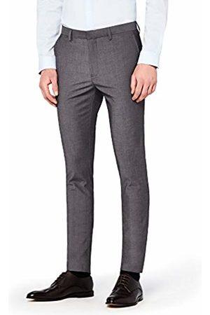 Hem & Seam Men's Skinny Fit Tonic Formal Trousers
