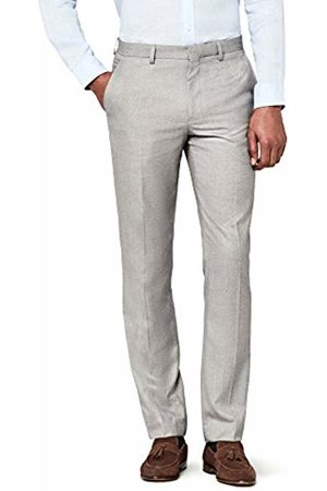Hem & Seam Men's Regular Fit Textured Formal Trousers