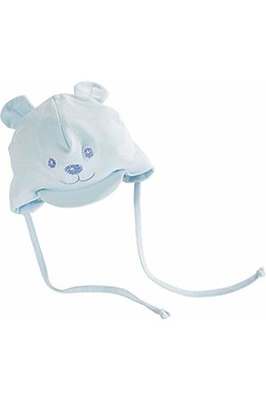 Sterntaler Visor with Drawstrings, Neck Protection and Cute Bear Design, Age 2-3 Months, Size: 37