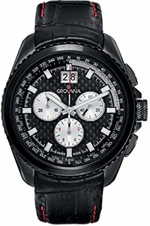 Grovana 1621.9577 Men's Quartz Swiss Watch with Dial Chronograph Display and Leather Strap