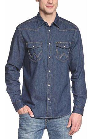 Wrangler Men's Western Long Sleeve Classic Denim Shirt