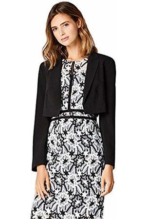 TRUTH & FABLE Women's Cropped Tuxedo Jacket