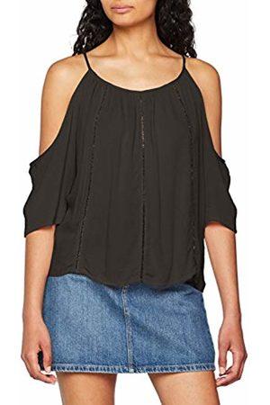 29aa2fc7e1b432 Grey Cold shoulder Tops   T-shirts for Women