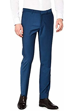 Hem & Seam Men's Slim Fit Tonic Formal Trousers