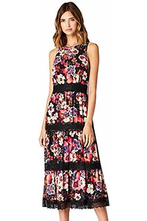 TRUTH & FABLE Women's Floral Lace Teired Midi Dress Party Dress
