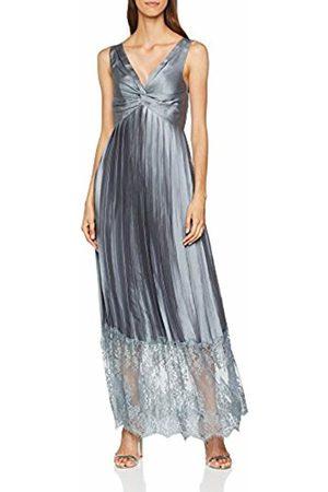 Little Mistress Women's Lace Hem Maxi Dress, (Pewter)