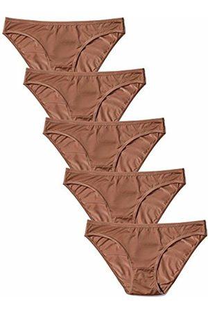 IRIS & LILLY Women's Bikini Brief in Soft No VPL, Pack of 5