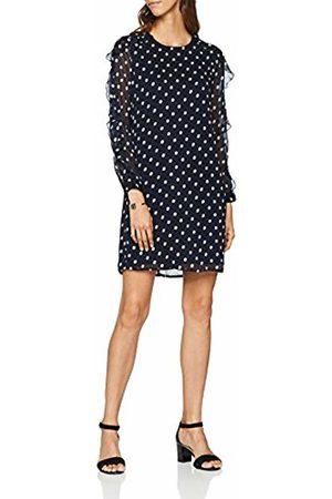 Great Plains Women's Dot Mix Dress, (Midnight Combo)