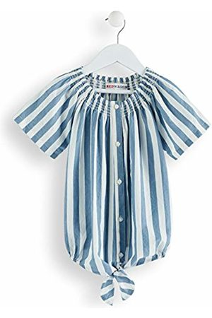 RED WAGON Girl's Striped Tie Knot Blouse