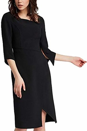 Apart Women's Red-Glencheck- -Cream-Grey-Glitter-Smokyblue & Fake Leather Party Dress