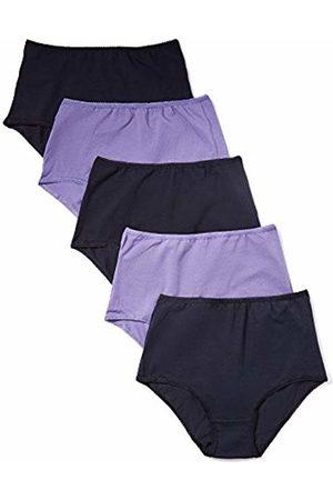 IRIS & LILLY Women's Maxi Briefs in High Waist Cotton, Pack of 5