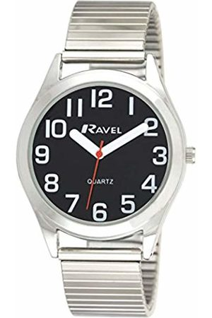 Ravel Men's Bracelet Easy Read Watch Men's Quartz Watch with Dial Analogue Display and Stainless Steel Plated Bracelet R0225.03.1