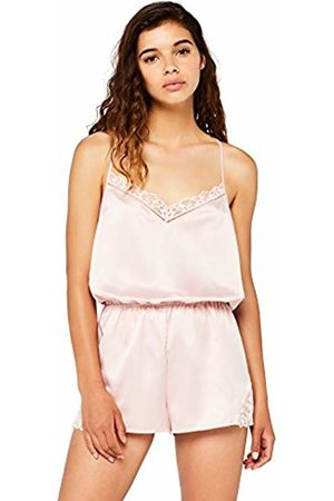 IRIS & LILLY Women's Satin Jumpsuit Pyjama