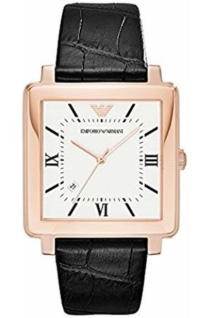 Emporio Armani Men's Quartz Watch with Leather Strap AR11075