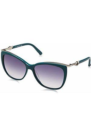 Swarovski Women's SK0104-5787W Sunglasses, (Shiny Turquoise)