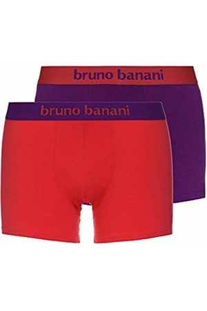Bruno Banani Men's 2er Pack Flowing Boxer Shorts, (Hibiskus//Violett 2544)