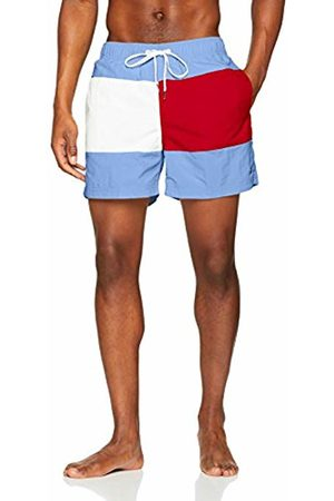 Tommy Hilfiger Men's Medium Drawstring Swim Trunks, (Ultramarine -Tango 799)