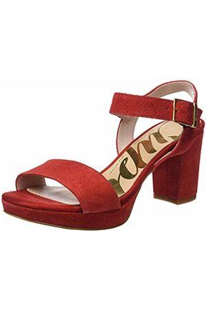 CUPLÉ Women's Sandalia Pala Serraje Rojo Ankle Strap Sandals