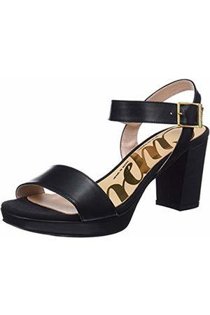 CUPLÉ Women's Sandalia Pala Serraje Negro Ankle Strap Sandals