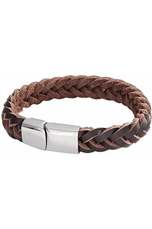 Lower East Leather Bracelet Braided Black with Magnetic Fastener