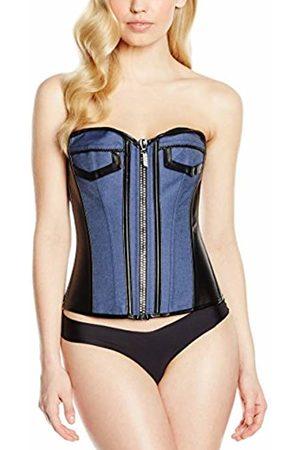 INTIMAX Women's Corset Jeans Negro Bustier