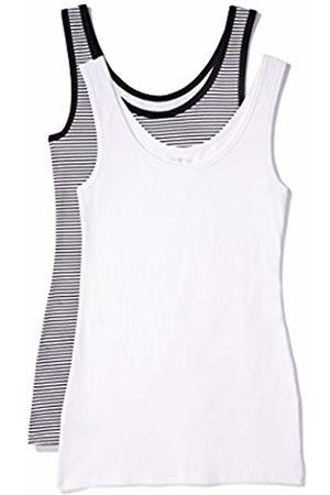 IRIS & LILLY Women's Tan Top Cotton Basic, Pack of 2 1 x