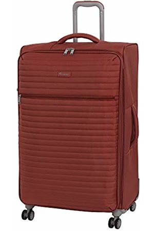 IT Luggage Quilte 8 Wheel Lightweight Semi Expander Large Suitcase, 80 cm