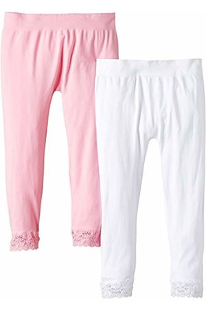 Luigi di Focenza Women's 100 DEN Leggings Rosa (rosa-weiß 576/099) One size