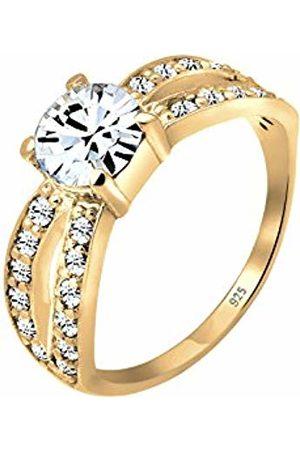 Elli Premium Women's 925 Sterling Silver Xilion Cut Crystal Finish Ring