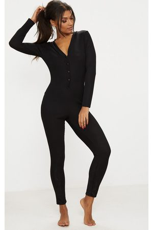 PRETTYLITTLETHING Ribbed Button Detail Onesie