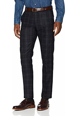 Selected Homme Men's Slhslim-Buffaloiver Navy CHK TRS B Noos Suit Trousers