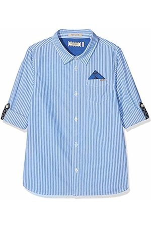 Scotch&Soda Shrunk Boy's Blue Series Shirt with Roll-up Sleeves & Detachable Pocket S Blouse