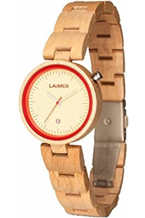 Laimer Wood watch NICKY ROT- women's wristwatch made of 100% Maple wood - nature and lifestyle